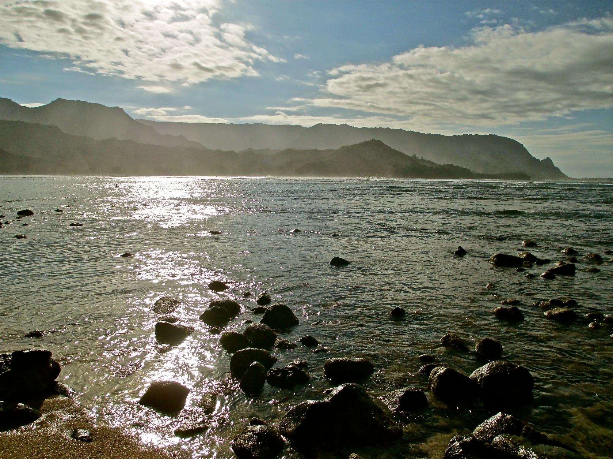 Path in the sea.